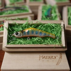 """HONNAMI SPIRIT Handmade Minnow  MAKIRI   """"Golden Yamame"""" 6㎝・7ℊSS"""