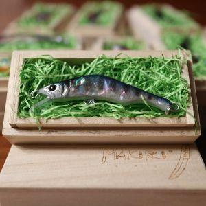 "HONNAMI SPIRIT Handmade Minnow  MAKIRI   ""Cobalt Yamame"" 6㎝・8ℊ・SSS"