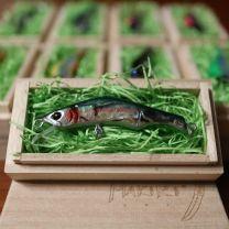 """HONNAMI SPIRIT Handmade Minnow  MAKIRI   """"Rainbow"""" 6㎝・5ℊ・S"""