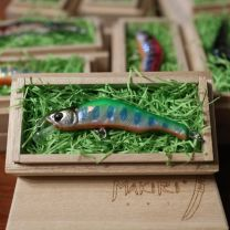 """HONNAMI SPIRIT Handmade Minnow  MAKIRI   """"Green Yamame"""" 6㎝・8ℊ・SSS"""